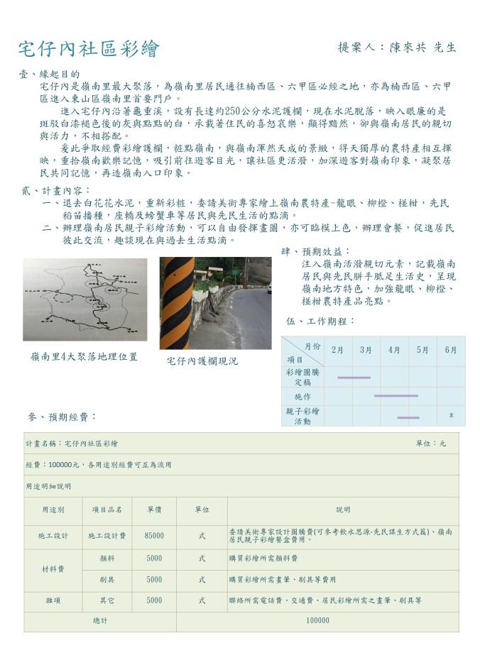 瑩文─宅仔內社區彩繪2